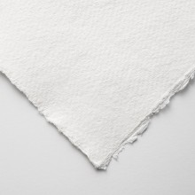 Khadi : White Rag Paper : 150gsm : Medium : 15x21cm : Pack of 20 Sheets