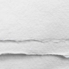 Khadi : White Rag Paper : 150gsm : Medium : 7x10cm : Pack of 20 Sheets