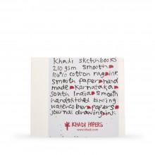 Khadi : Handmade Bound Sketchbook 210gsm : Smooth : 21x25cm : 20 Sheets