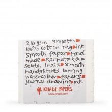 Khadi : Handmade Bound Sketchbook 210gsm : Smooth :13x16cm : 20 Sheets