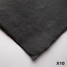 Khadi : Handmade Black Rag Paper : 210gsm : Rough : 56x76cm : 10 Sheets