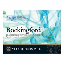 Bockingford : Glued Pad : 12x16in : 300gsm : 12 Sheets : Not