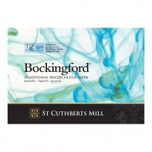 Bockingford : Glued Pad : 8.2x11.8in : A4 : 300gsm : 12 Sheets : Not