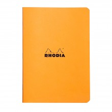 Rhodia : Lined Side Stapled Notebook : Orange Cover : 48 Sheets : A5