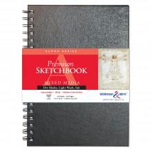 Stillman & Birn : Alpha Sketchbook : 7 x 10in Wirebound 150gsm : Natural White Vellum