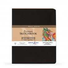 Stillman & Birn : Nova : Softcover Mixed Media Sketchbook : 150gsm : 8x10in (20.3x25.3cm) : Beige