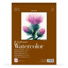 Strathmore : 400 Series : Spiral Watercolour Pad : 300gsm : 12 Sheets : 7x10in