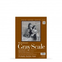 Strathmore : 400 Series : Grey Scale Scale Pad : 216gsm : 15 Sheets : 9x12in