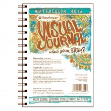 Strathmore : Visual Journal : Watercolor Paper Pad : 5.5x8in : 34 Sheets : Not