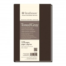 Strathmore : 400 Series : Toned Grey : Softcover Art Journal : 5.5x8in