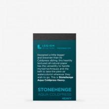 Stonehenge : Aqua Heavy Paper Pad : 300lb (600gsm) : Not : 6.3x9.5cm : Sample : 1 Per Order