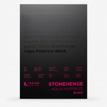 Stonehenge : Aqua Black Watercolour Paper Pad : 140lb (300gsm) : 10x14in : Hot Pressed