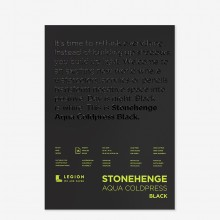 Stonehenge : Aqua Black Watercolor Paper Pad : 140lb (300gsm) : 10x14in : Not
