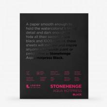 Stonehenge : Aqua Black Watercolour Paper Pad : 140lb (300gsm) : 8x10in : Hot Pressed