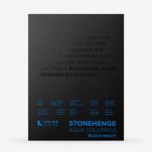 Stonehenge : Aqua Black Heavy Watercolour Paper Pad : 300lb (600gsm) : 9x12in : Not