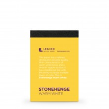 Stonehenge : Warm White Pad : 9.5x6.3cm : Sample : 1 Per Order
