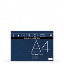 Daler Rowney : Tracing Pad : 90gsm : 50 sheets : A4