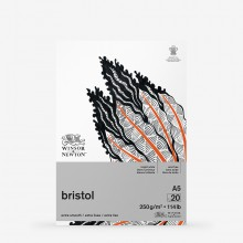 Winsor & Newton : Bristol Board Pad : 250gsm : 20 Sheets : Extra Smooth : Bright White : A5