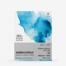 Winsor & Newton : Classic : Watercolour Paper : Gummed Pad : 300gsm : 12 Sheets : Cold Pressed : 9x12in