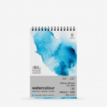 Winsor & Newton : Classic : Watercolour Paper : Spiral Pad : 300gsm : 12 Sheets : Cold Pressed : 7x10in