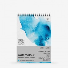 Winsor & Newton : Classic : Watercolour Paper : Spiral Pad : 300gsm : 12 Sheets : Cold Pressed : 9x12in