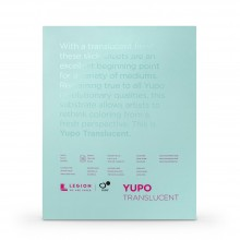 Yupo : Transluscent Watercolor Paper Pad : 104lb (153gsm) : 11x14in : 10 Sheets