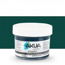 Akua : Intaglio Ink : 2oz : 59ml : Phthalo Green