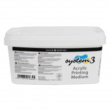Daler Rowney : Acrylic Printing Medium : For Screen Printing : 1 Litre