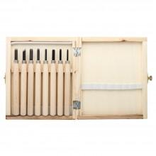 Jackson's : Wood Cut Knife : Wooden Box Set of 8