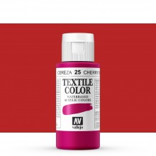Vallejo : Textile Paint : 60ml : Cherry Red