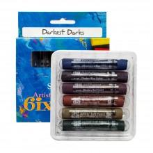 Art Spectrum : Soft Pastel : Set of 6 : Darkest Darks