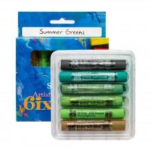 Art Spectrum : Soft Pastel : Set of 6 : Summer Greens
