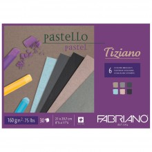 Fabriano : Tiziano : Pastel Pad : A4 : 30 Sheets : 6 Assorted Dark Colors