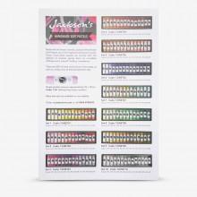 Jackson's : Handmade Soft Pastels : Printed Color Chart