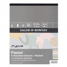 Daler Rowney : Murano : Pastel Pad : 9x12in : Neutral Colors