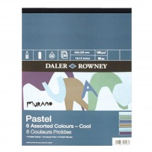 Daler Rowney : Murano : Pastel Pad : 12x16in : Cool Colors