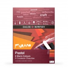 Daler Rowney : Murano : Pastel Pad : 12x16in : Warm Colors