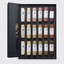 Unison Colour : Soft Pastel : Set of 18 Brown Earth 19-36