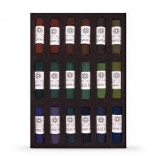 Unison Colour : Soft Pastel : Set of 18 Dark Jewel