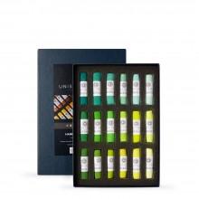 Unison Colour : Soft Pastel : Set of 18 Green 19-36