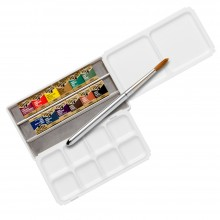 Holbein : Artists' : Watercolur Paint : Half Pan : Palm Box Set of 12