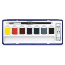 Caran d'Ache : Studio Gouache : Set of 7 Pans & 10ml White