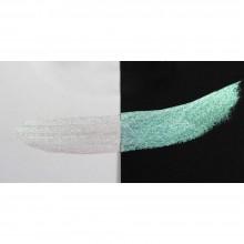 Finetec : Coliro : Pearlcolors : Mica Watercolor Paint : 30mm Refill : Green Pearl M1200-90