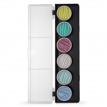 Finetec : Coliro : Pearlcolors : Mica Watercolor Paint : 30mm : Paradise Set of 6