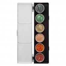 Finetec : Coliro : Pearlcolors : Mica Watercolour Paint : 30mm : Autumn Set of 6