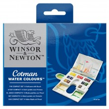 Winsor & Newton : Cotman : Watercolor : Compact Set : 14 Half Pans
