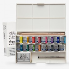 Winsor & Newton : Cotman : Watercolor : Deluxe Sketchers Pocket Box Set : 16 Half Pans