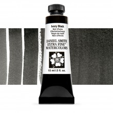Daniel Smith : Watercolor Paint : 15ml : Ivory Black : Series 1