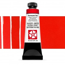 Daniel Smith : Watercolor Paint : 15ml : Permanent Red : Series 1
