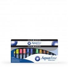 Daler Rowney : Aquafine Watercolour : 8ml : Introduction Set of 12
